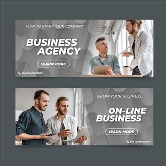 Набор бизнес-баннеров с фото
