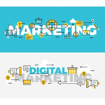 Business banners set
