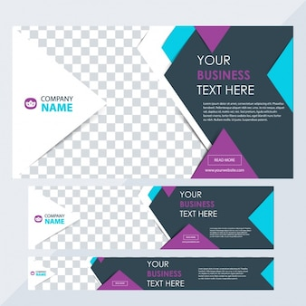 Business banners with different sizes