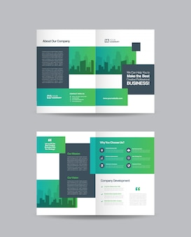 Business bifold brochure design