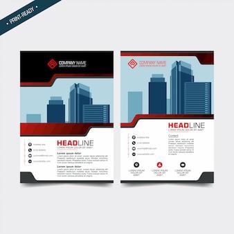 ビジネス二つ折りパンフレットやチラシのデザイン