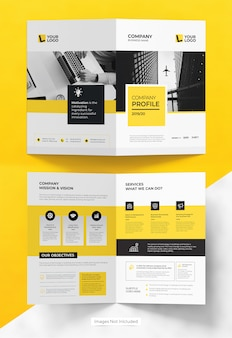 Business bifold brochure template design
