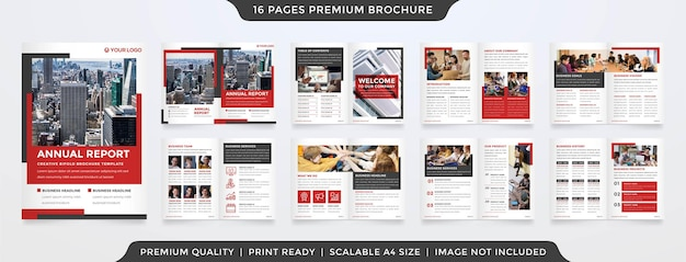 Business bifold brochure template layout premium style