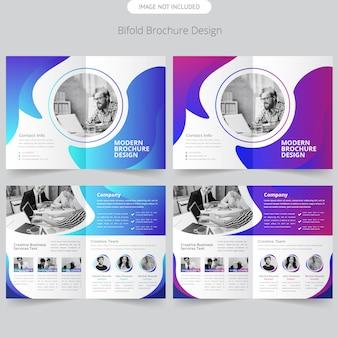 Business bifold brochure