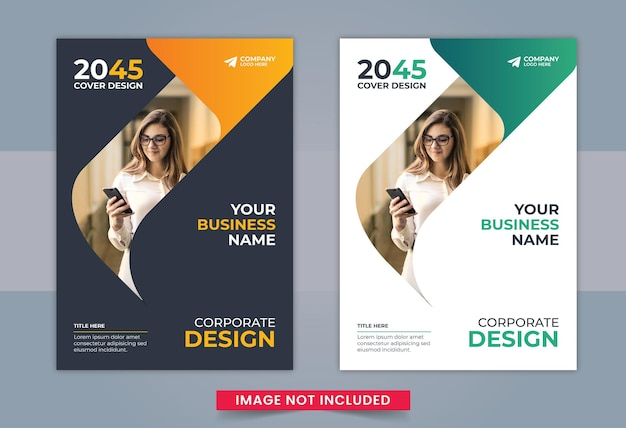 Business book cover design template