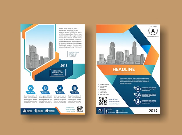 Business book leaflet cover design