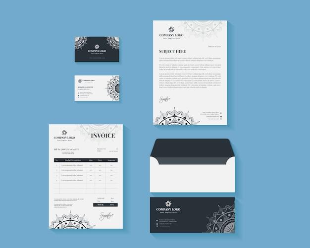 Business brand identity stationary set
