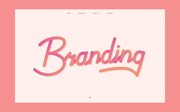 Business branding informational website graphic