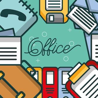 Business briefcase binder clipboard phone book floppy office