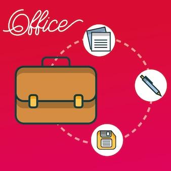 Бизнес-портфель флоппи-ручка бумажный офис