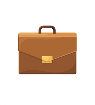 Business briefcase illustration in flat style