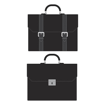 Business briefcase illustration isolated on white