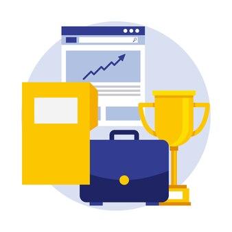 Бизнес-портфель трофей документ папку доклад