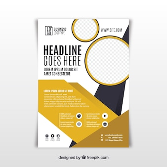 Business brochure in a5 size with flat style