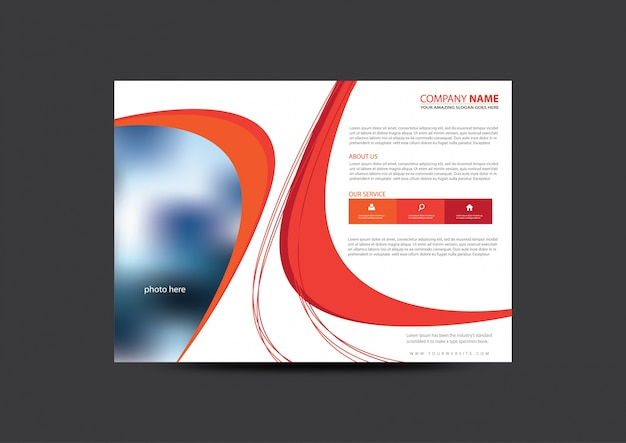 Business brochure abstract design