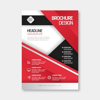 Business brochure in abstract style