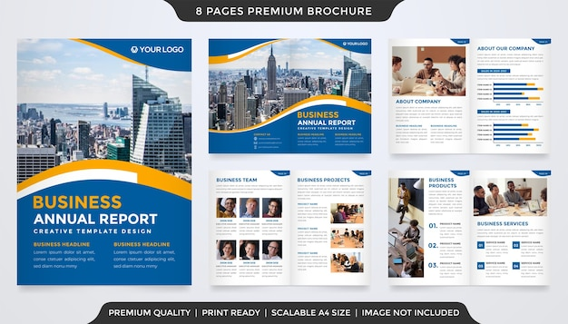 Business brochure annual report template