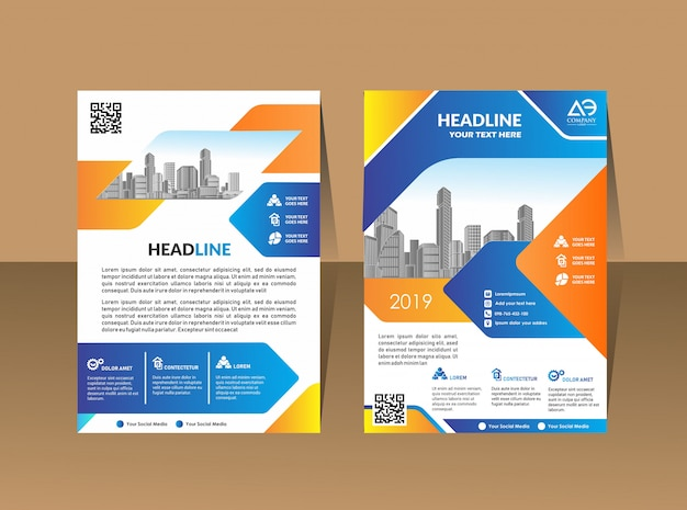 Business brochure background design template flyer layout