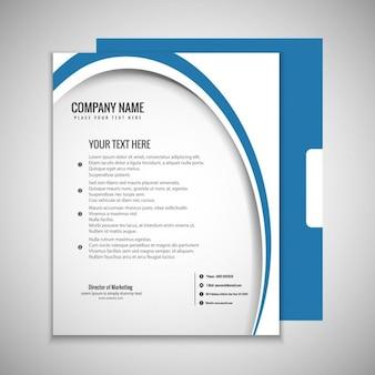 Бизнес брошюра синий и белый