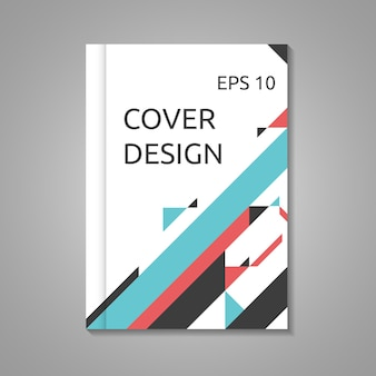 Business brochure, book or report cover template in a4 size. abstract minimalistic design. eps 10 vector illustration, transparency and gradient mesh used