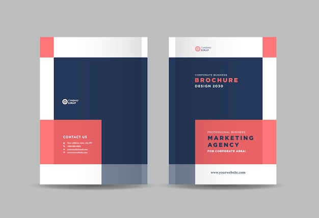 Business brochure and booklet cover design or annual report and company catalog cover design