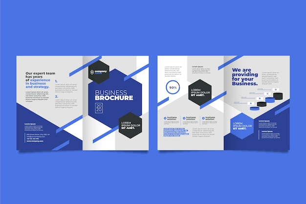 Business brochure concept