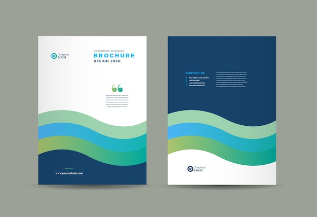 ビジネスパンフレットの表紙のデザイン、年次報告書および会社概要の表紙、小冊子。