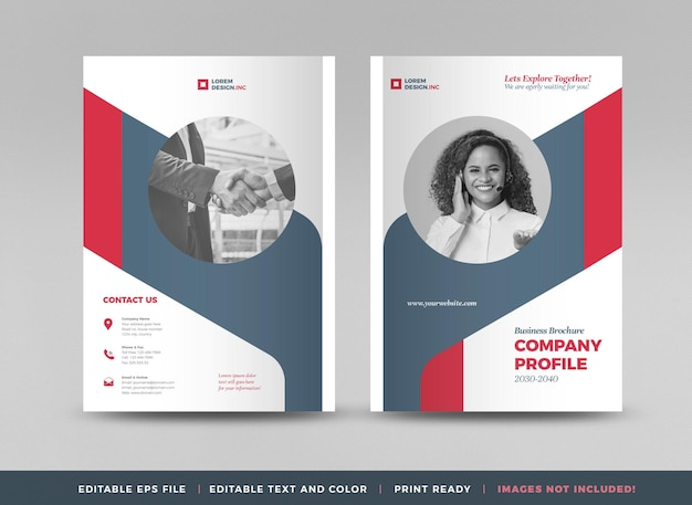 Business brochure cover design or annual report and company profile or booklet and catalog cover