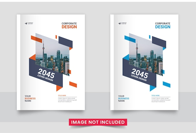 Business brochure cover design or annual report and company profile or booklet cover design set