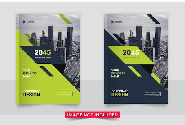 Business brochure cover design or annual report and company profile or booklet cover design template