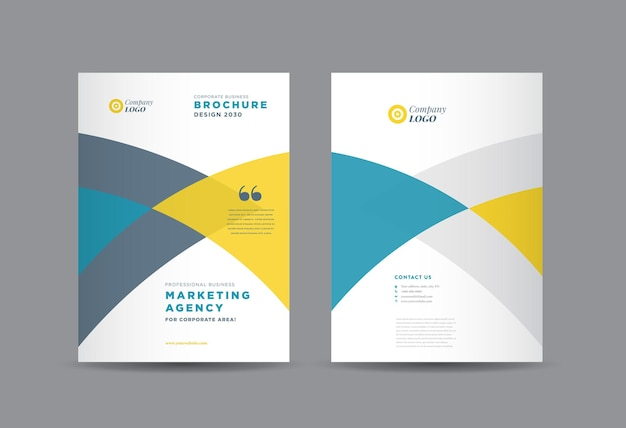 Business brochure cover design or annual report and company profile cover or booklet and catalog cover