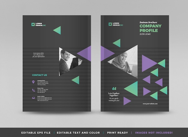 Business brochure cover design or annual report and company profile cover and booklet cover