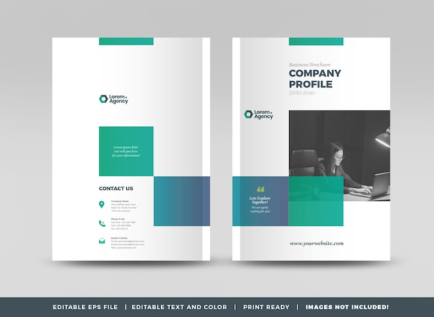 Business brochure cover design or annual report and company profile cover or booklet cover Premium Vector