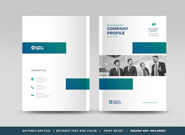 Business brochure cover design or annual report and company profile cover or booklet cover