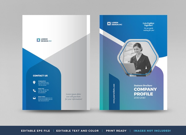 비즈니스 브로셔 표지 디자인 또는 연례 보고서 및 회사 프로필 표지 또는 소책자 및 카탈로그 cov
