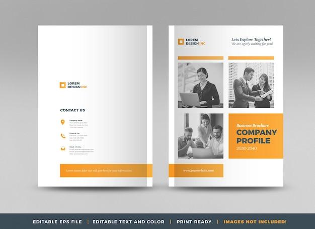 Дизайн обложки бизнес-брошюры или годового отчета и обложка профиля компании или обложка буклета и каталога