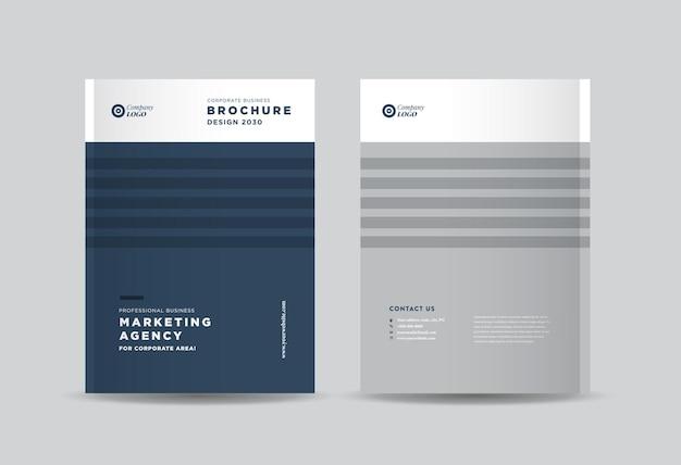 ビジネスパンフレットの表紙のデザインまたは年次報告書と会社概要の表紙または小冊子とカタログの表紙