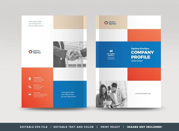 ビジネスパンフレットの表紙のデザインまたは年次報告書と会社概要の表紙または小冊子の表紙