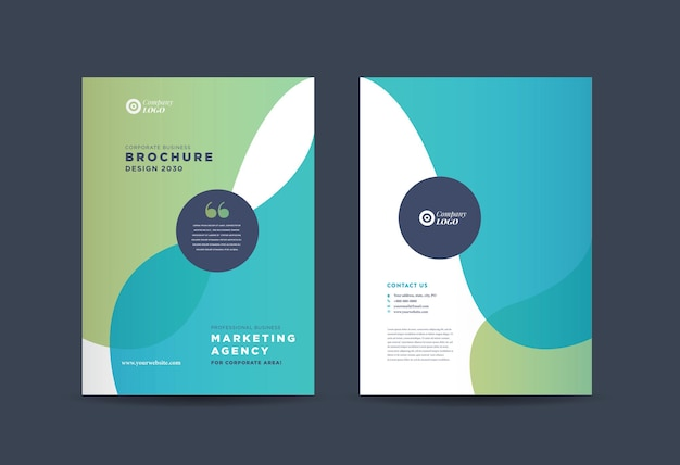 비즈니스 브로셔 표지 디자인 또는 연례 보고서 및 회사 프로필 또는 소책자 표지