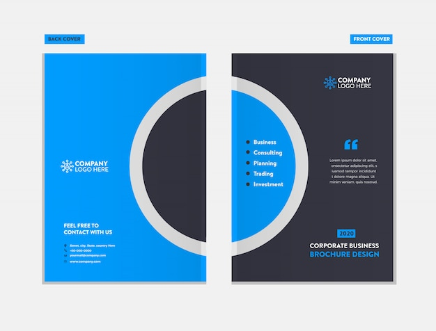 Business brochure cover design template