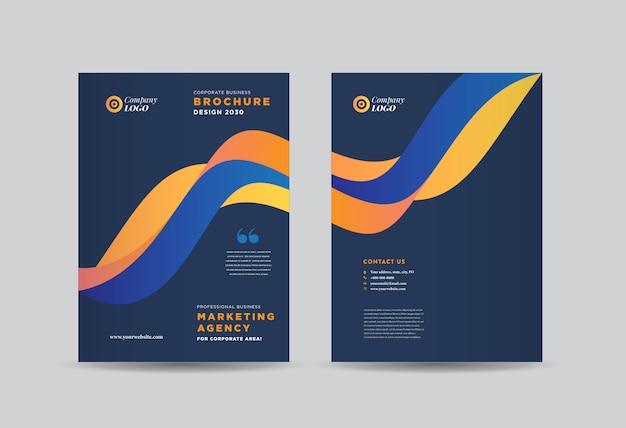 Business brochure cover design