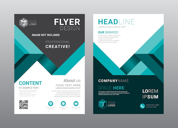 Business brochure cover layout template design.
