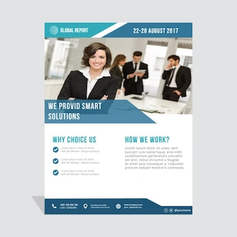 Business brochure, dark blue
