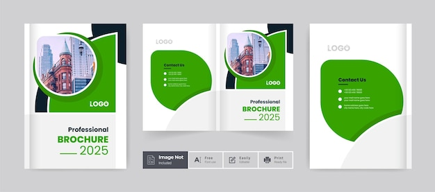Business brochure design cover theme template colorful modern abstract bifold brochure layout