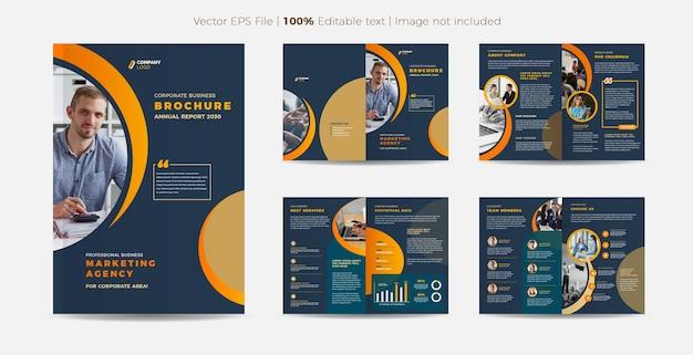 비즈니스 브로셔 디자인 또는 연례 보고서 및 회사 프로필 디자인