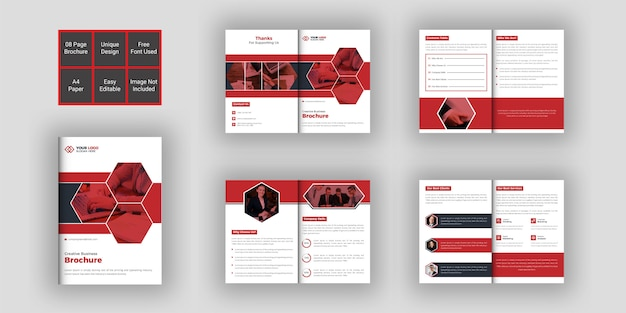 Business brochure design template 08 pages