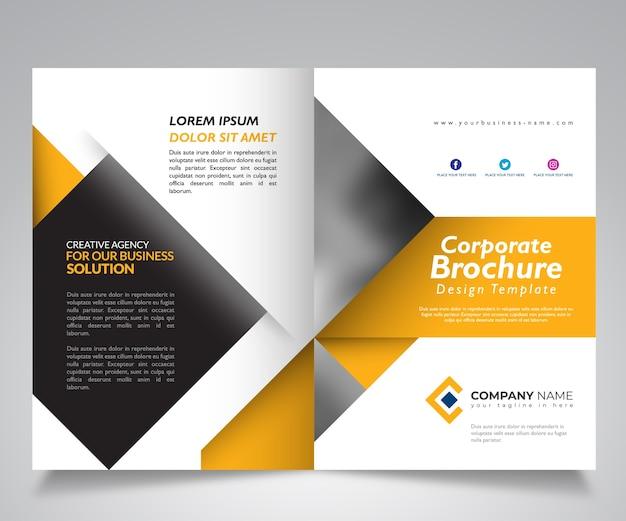 Business brochure design template, corporate template design