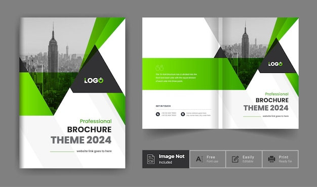 Business brochure design template theme company profile cover page presentation
