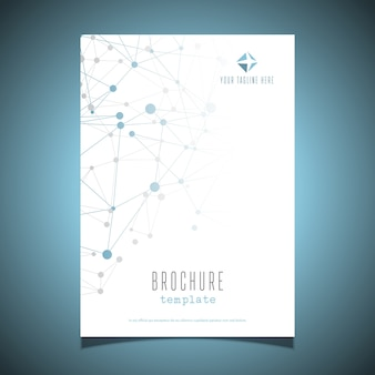 Business brochure design template with connecting dots