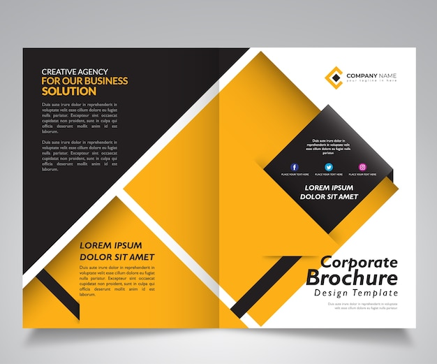 Business brochure design template with geometric